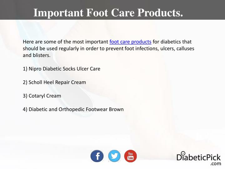 Important Foot Care Products.