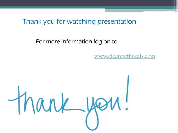 Thank you for watching presentation