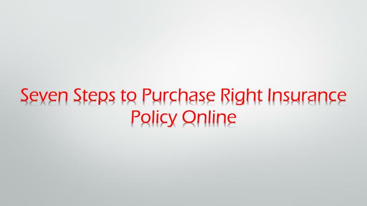 Seven Steps to Purchase Right