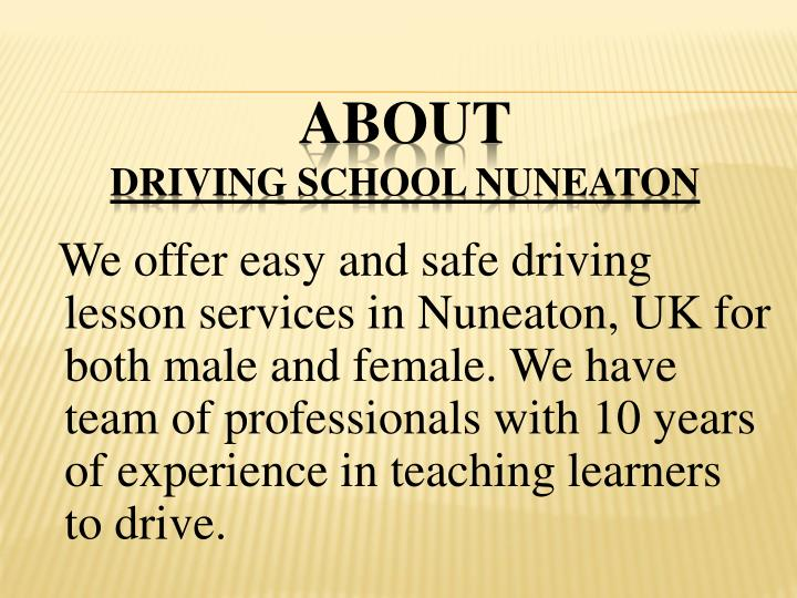 About driving school nuneaton