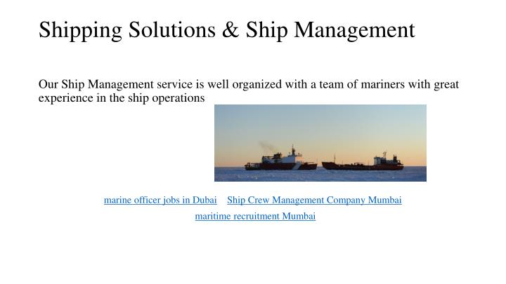 Shipping solutions ship management1
