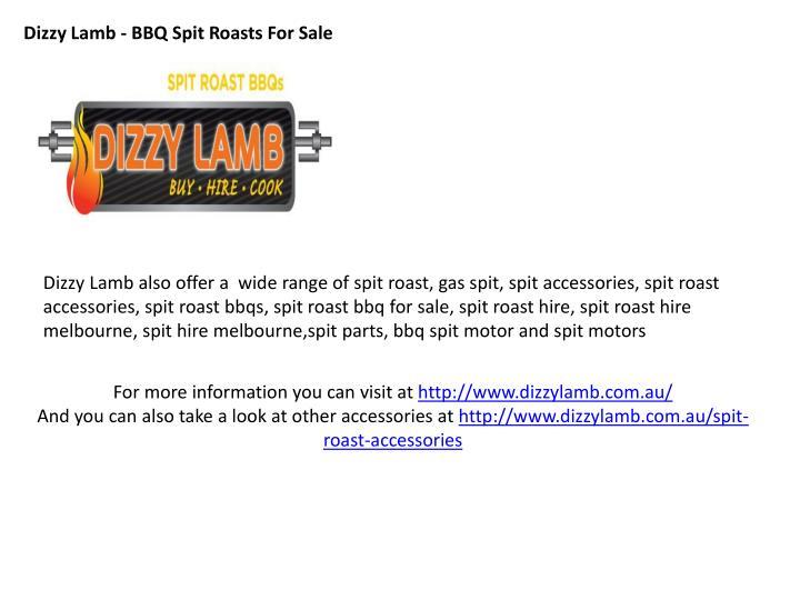 Dizzy Lamb - BBQ