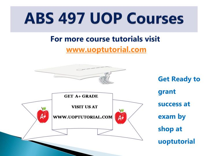 abs 497 uop courses n.