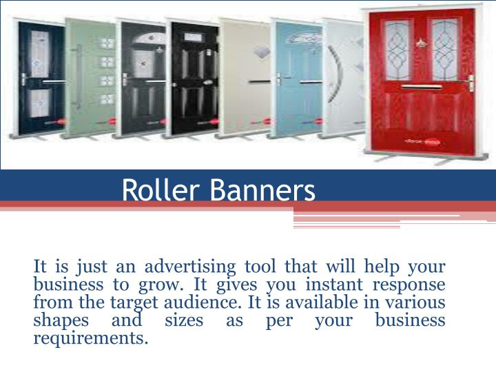 roller banners n.