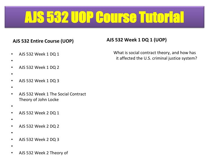 AJS 532 Entire Course (UOP)
