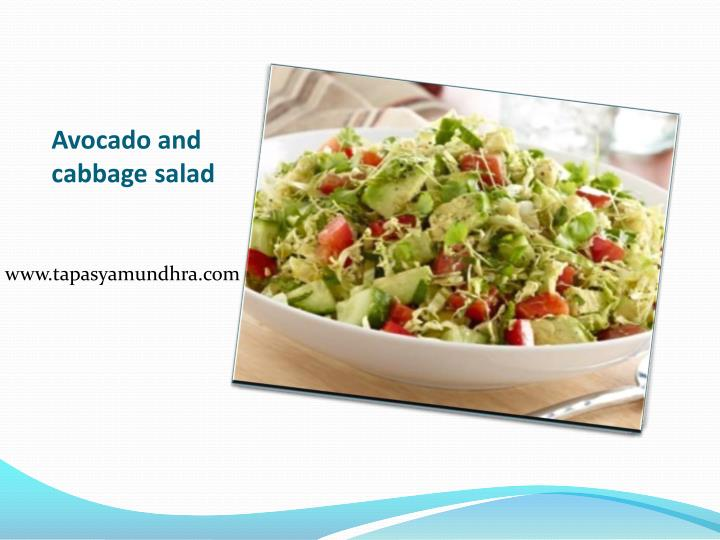 avocado and cabbage salad n.