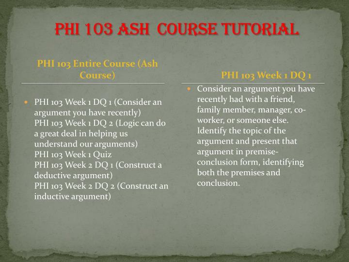 phi 103 entire course