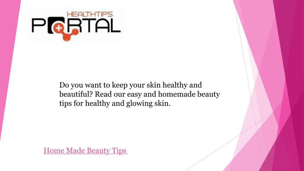Ppt Homemade Beauty Tips For Glowing Skin Powerpoint Presentation Free Download Id 7180744