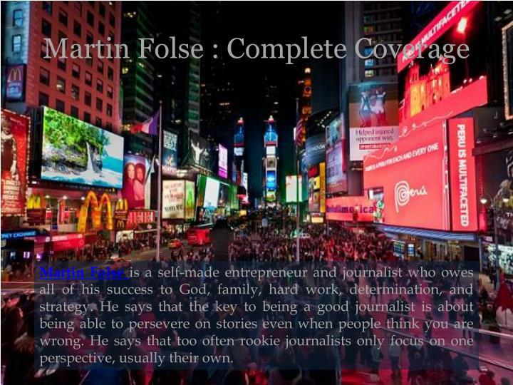 Martin folse complete coverage