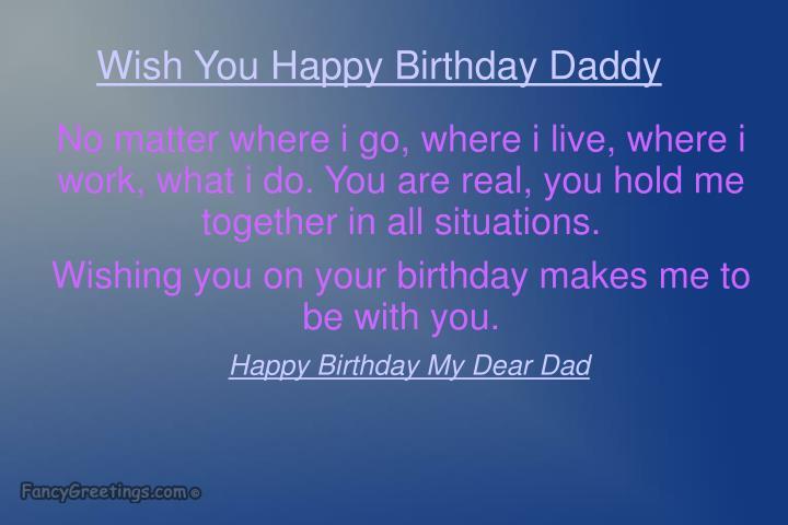 Wish You Happy Birthday Daddy