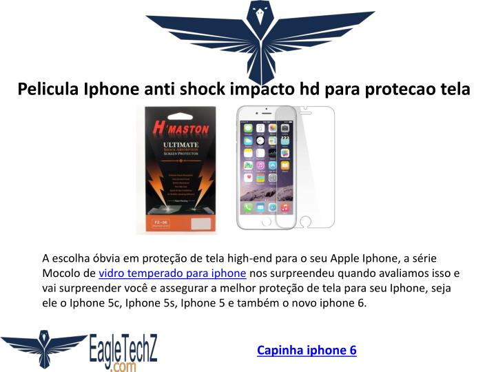 Pelicula Iphone anti shock impacto hd para protecao tela