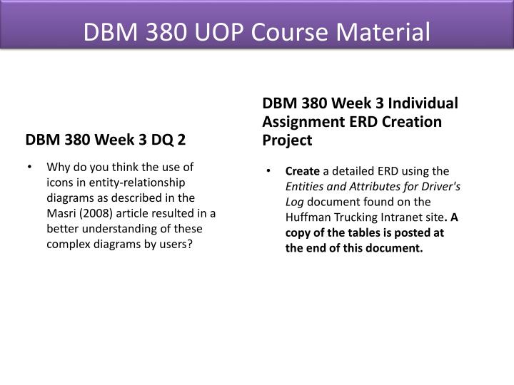 DBM 380 UOP Course Material
