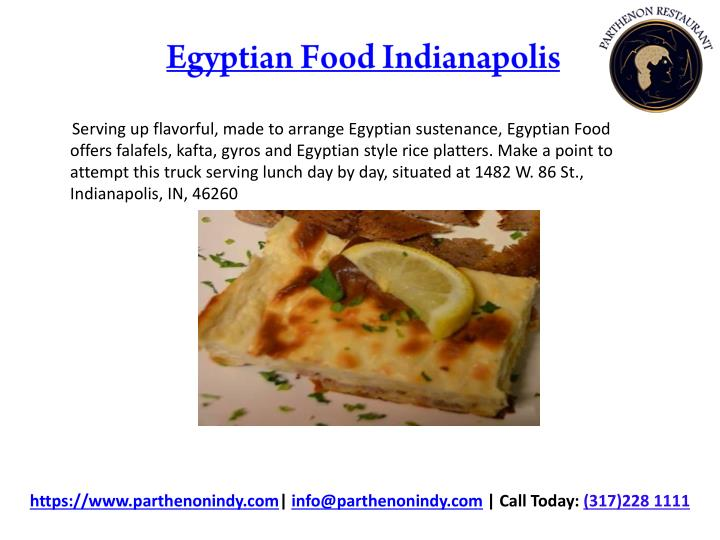 Egyptian food indianapolis