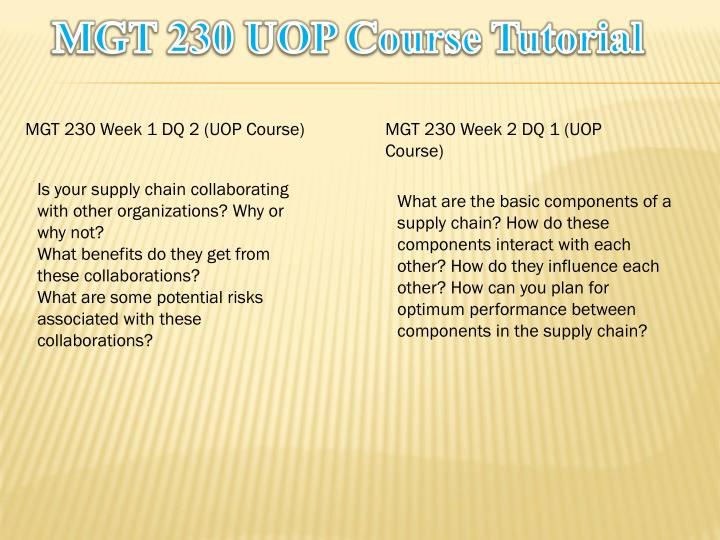 Mgt 230 uop course tutorial1