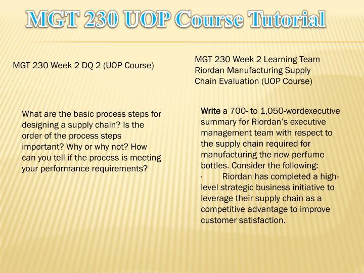 MGT 230 UOP