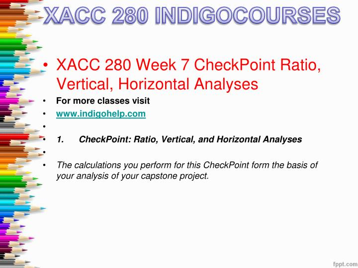 xacc 280 financial analysis