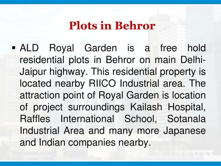 Plots in behror
