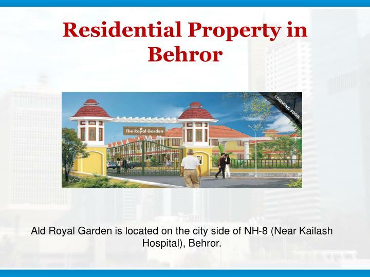 Residential Property in Behror