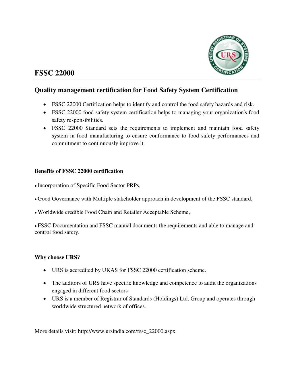 PPT - fssc 22000 certification PowerPoint Presentation - ID:7181406