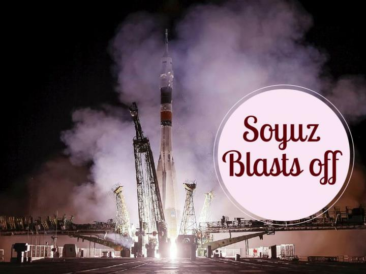 soyuz blasts off n.