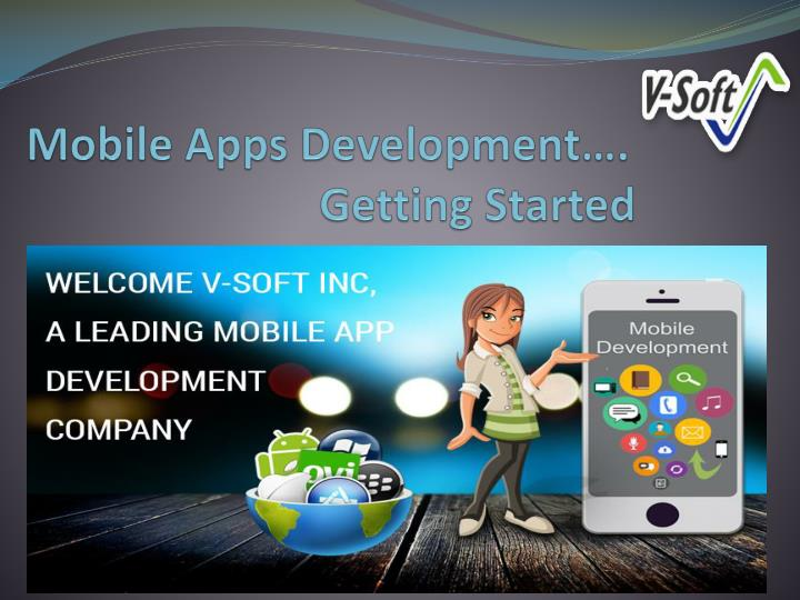 mobile apps development getting started n.