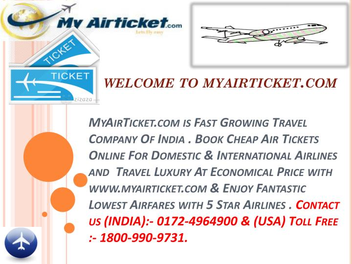 Welcome to myairticket.com