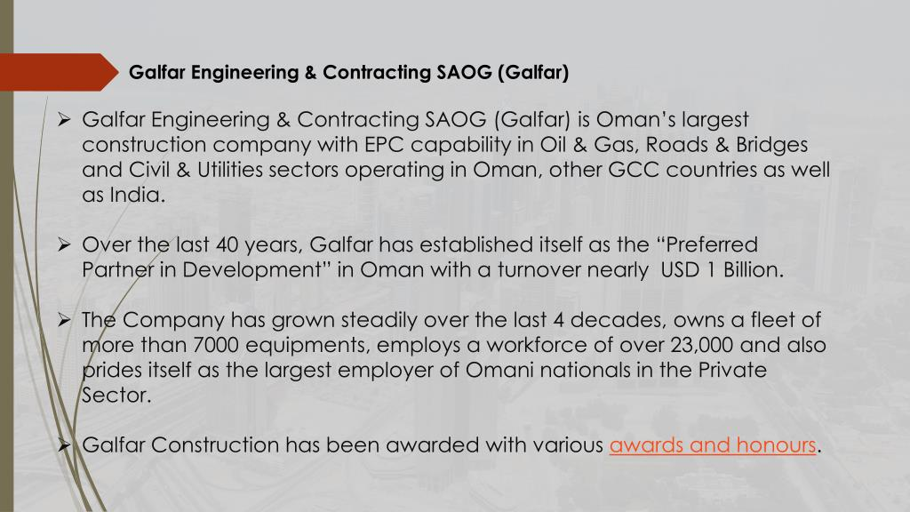 Civil Construction Companies In Oman