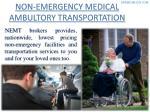 non emergency medical ambultory transportation