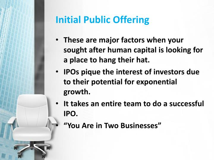 initial public offerings essay Practice of the initial public offering ipo in the initial public offerings essay - #1 fluidigm made the decision to expand their company and in order to.