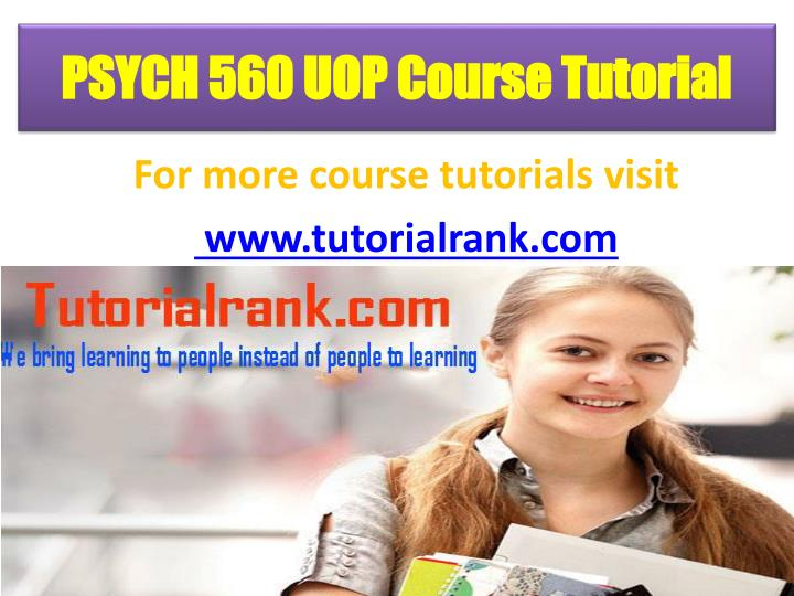 Psych 560 uop course tutorial