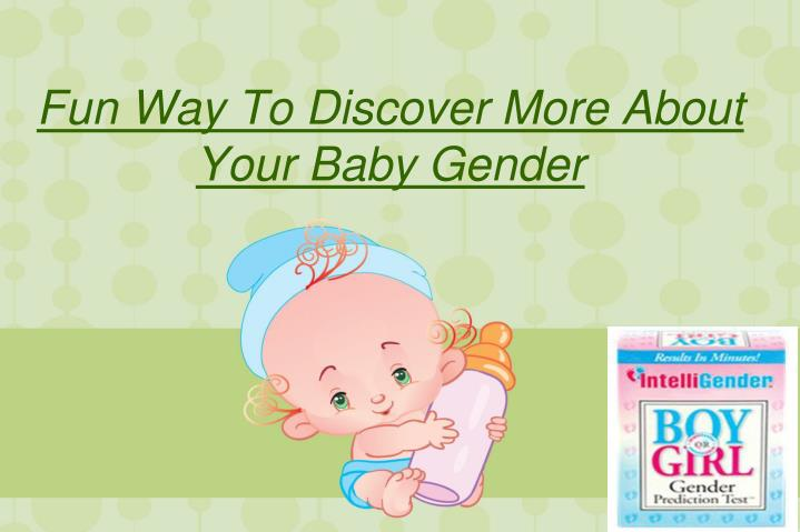 fun way to discover more about your baby gender n.