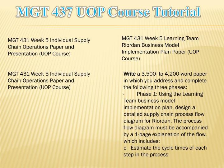 MGT 437 UOP