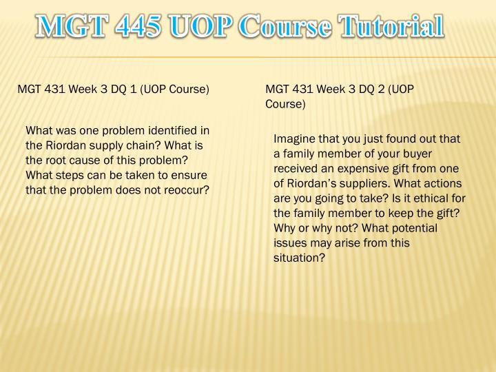 MGT 445 UOP