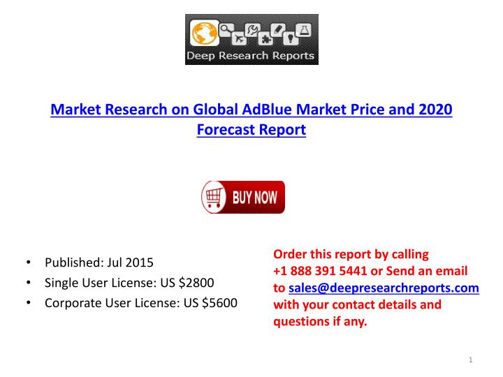 Market Research on Global AdBlue Market Price and 2020