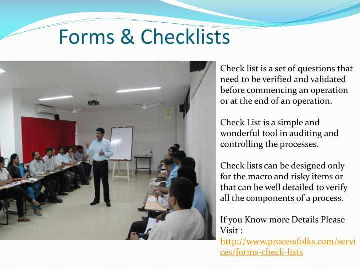 Forms & Checklists