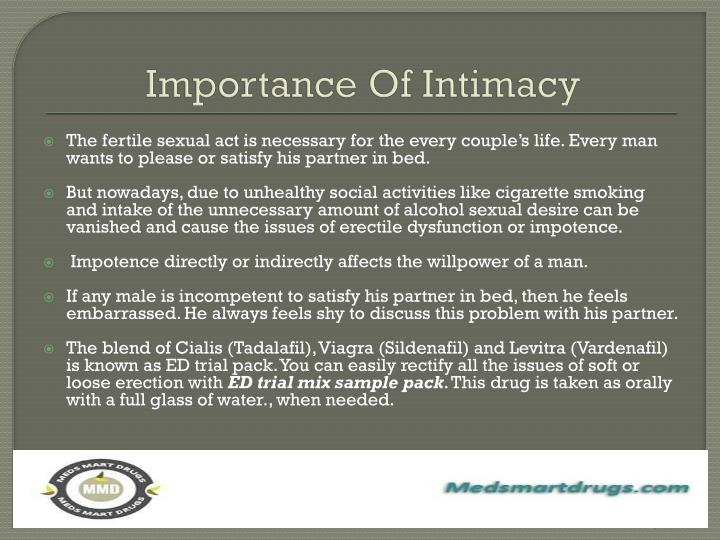 Importance o f i ntimacy