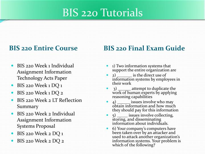 bis 220 introduction to computer application and system final exam