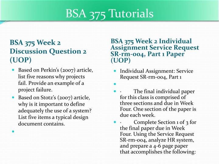 bsa 375 final assignment kff