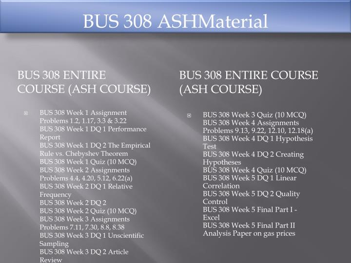 bus 308 week 1 assignment