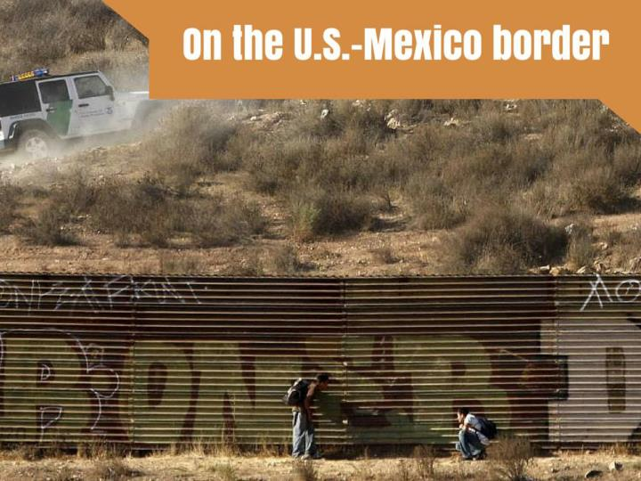 on the u s mexico border n.