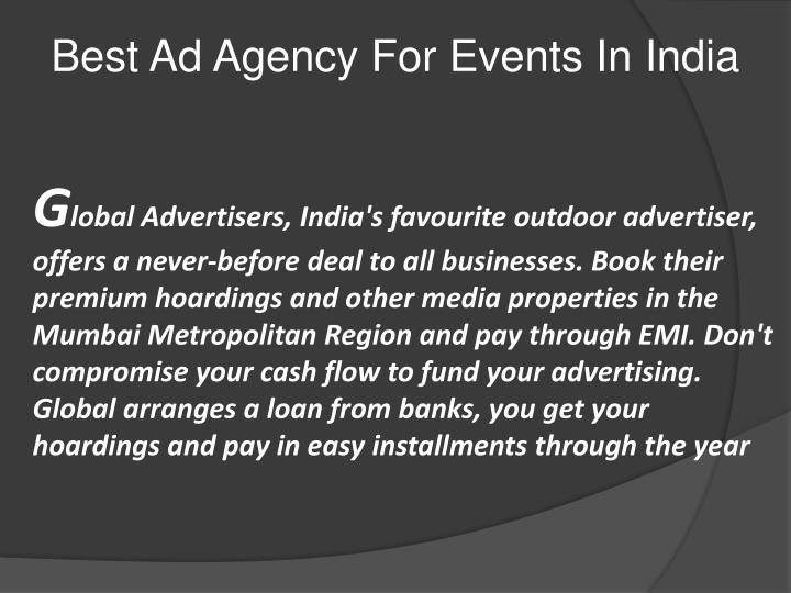 Best Ad Agency For Events In