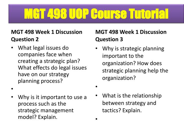 ethics strategic planning mgt 498 Category: mgt 498 mgt 498 final exam  advantages paper mgt 498 week 5 strategic plan paper and  week 2 building a competitive advantage week 2 ethics and.