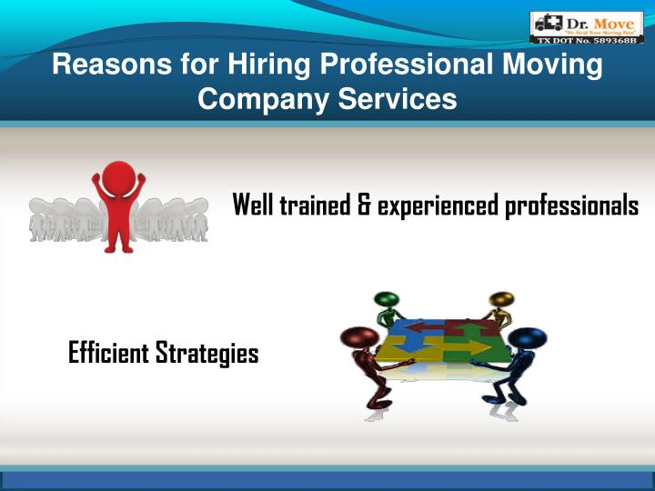 Reasons for Hiring Professional Moving Company Services