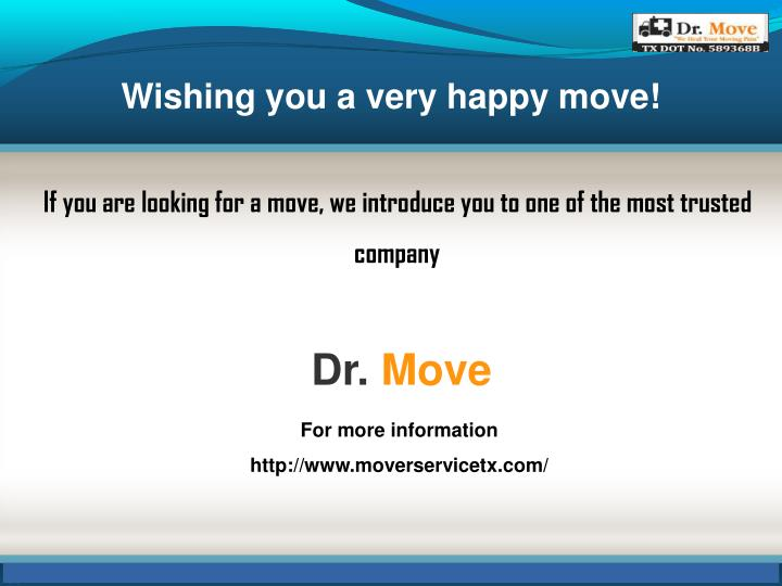 Wishing you a very happy move!
