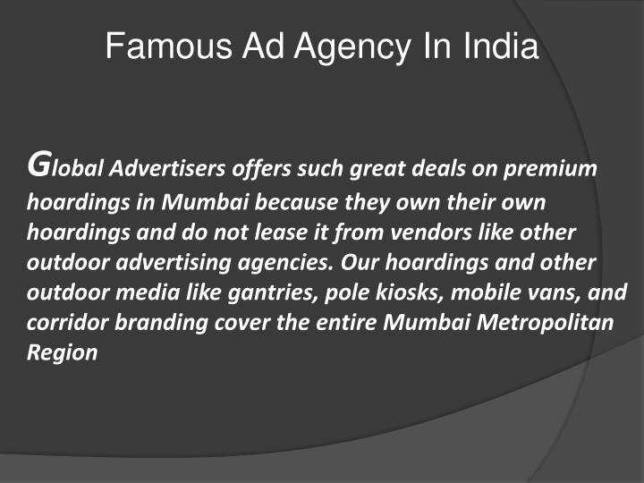 Famous Ad Agency In
