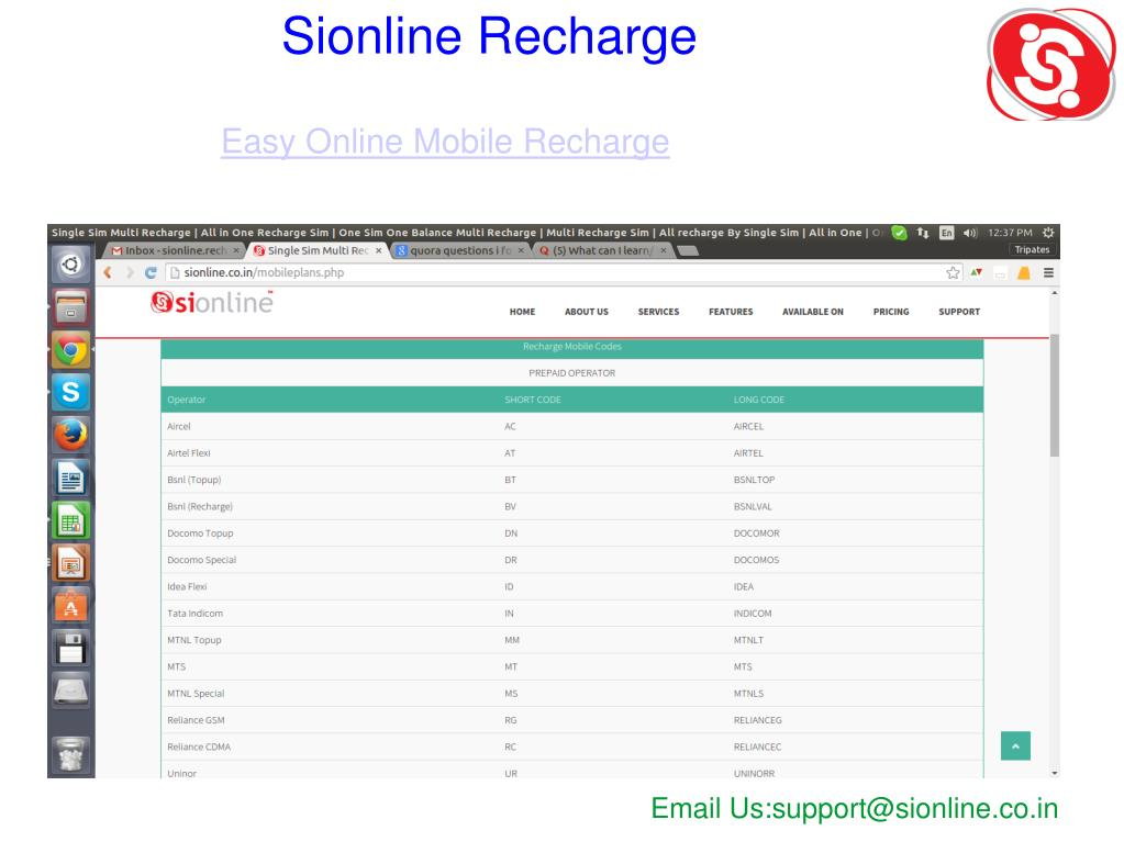 PPT - one sim all recharge distributor | recharge software