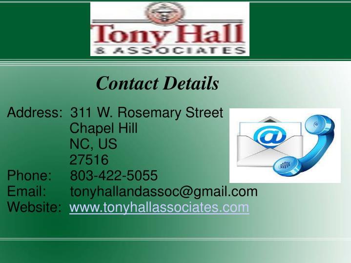 Address:  311 W. Rosemary Street