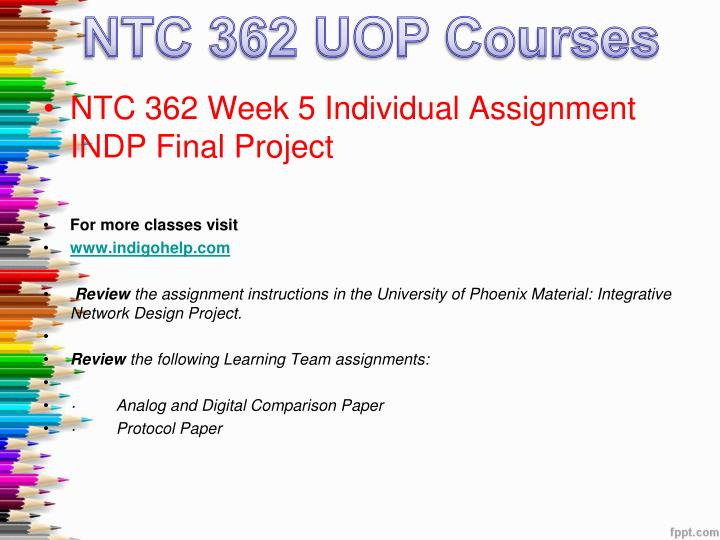 individual indp final project Ntc 362 entire class $ 3000 week 4 individual indp, week 5 individual indp final project individual indp, part 1.