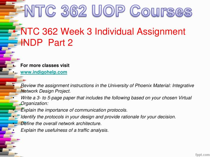 ntc362 indp part 1 Ntc 362 entire course ( fundamentals of networking) week 1-5 week 1-5  ntc 362 entire course integrative network design project.