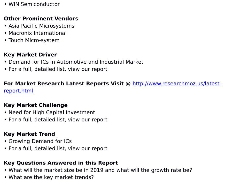 PPT - Semiconductor Foundry Service Market in Taiwan 2015